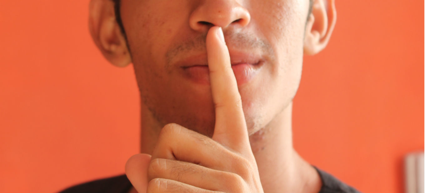 shh, be quiet, hush, finger over lips